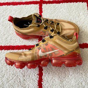 Nike AIr Vapormax 2019 Crimson Red Gold Sneakers